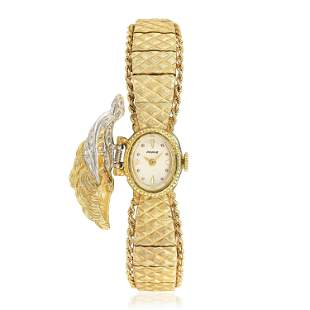 Ancora Perle Pine Cone Watch in 14K Gold