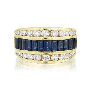 La Triomphe Sapphire and Diamond Ring