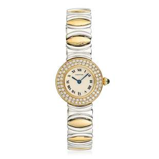 Cartier Ronde Petite in 18K Gold and Steel with
