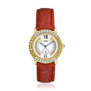 Cartier Must de Ronde 1810 -1 in Gold Plate
