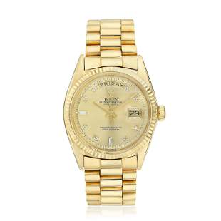 "Rolex Day-Date ""President"" in 18K Gold"