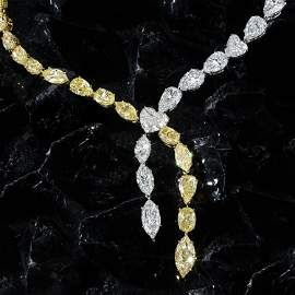 Important Natural Fancy Yellow and White Diamond