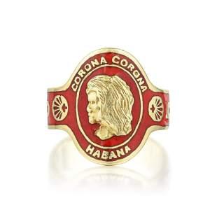 Cartier Enamel Cigar Band Ring
