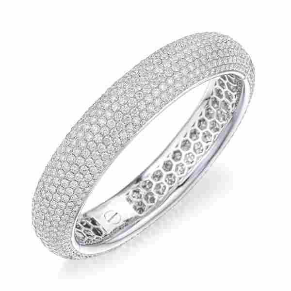 Diamond Hinged Bangle Bracelet