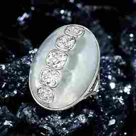 ARK Magnificent Moonstone and Diamond Ring
