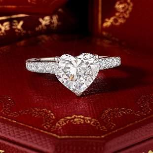 Cartier 3.01-Carat Heart Brilliant-Cut Diamond Ring