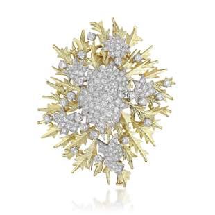 David Webb Diamond Burst Pendant/Brooch