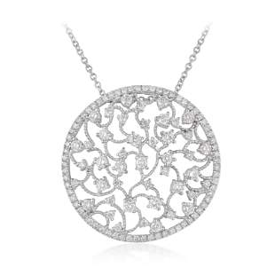 Diamond Circle Openwork Pendant Necklace