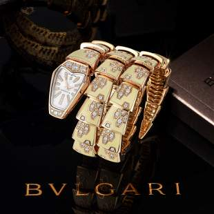 Bulgari Serpenti Scaglie in 18K Rose Gold with Diamonds
