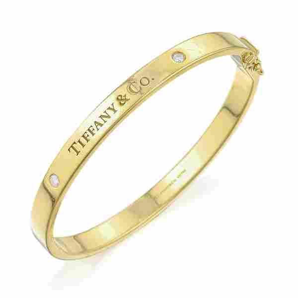 Tiffany & Co. Diamond Hinged Bangle Bracelet