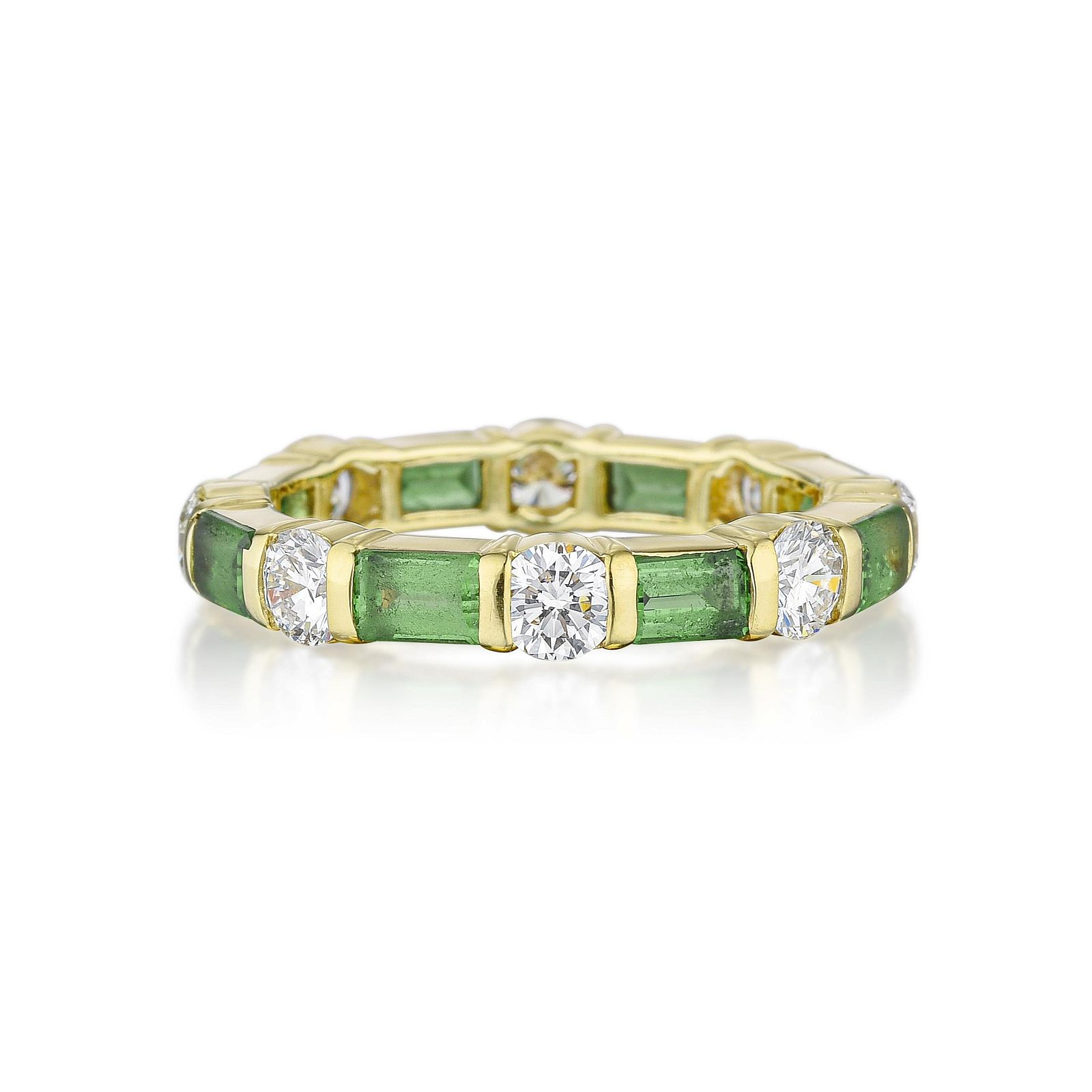 Tiffany & Co. Peridot and Diamond Eternity Band