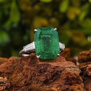 Bulgari 5.72-Carat Fine Colombian Emerald Ring, GIA