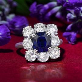 Harry Winston 3.59-Carat Burmese Unheated Sapphire Ring