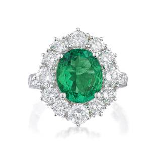 Colombian Emerald and Diamond Ring, AGL Certified