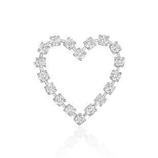 Tiffany & Co. Vintage Heart-Shaped Diamond Pin