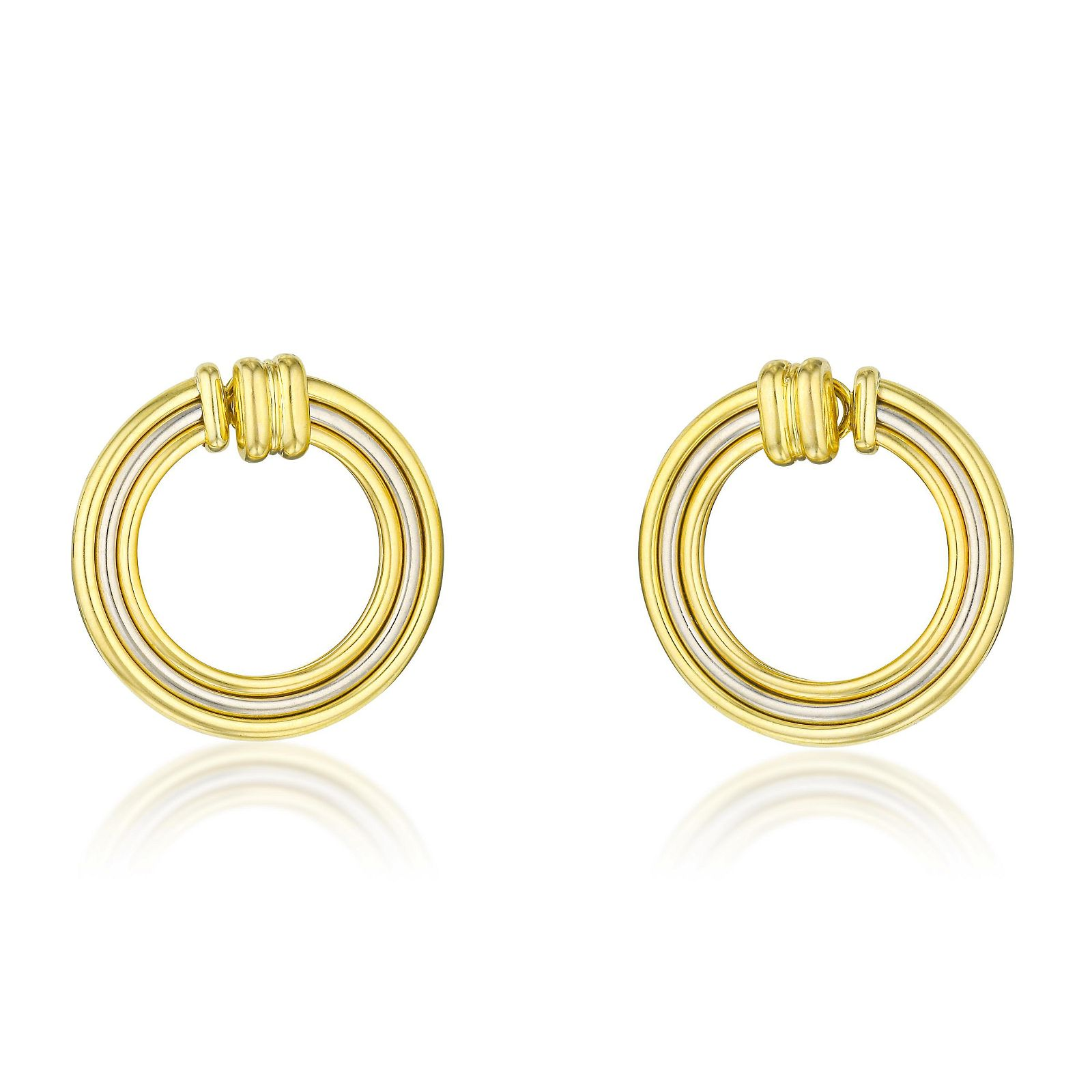Cartier Trinity Gold Earclips