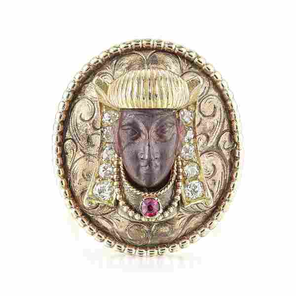 Antique Egyptian Revival Diamond Ring