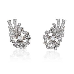 Vintage Diamond Earclips