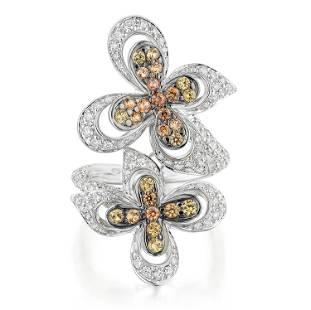 Ambrosi Multi-Colored Sapphire and Diamond Ring