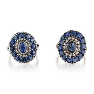 Antique Sapphire and Diamond Rings