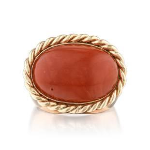 Vintage Oxblood Coral Ring