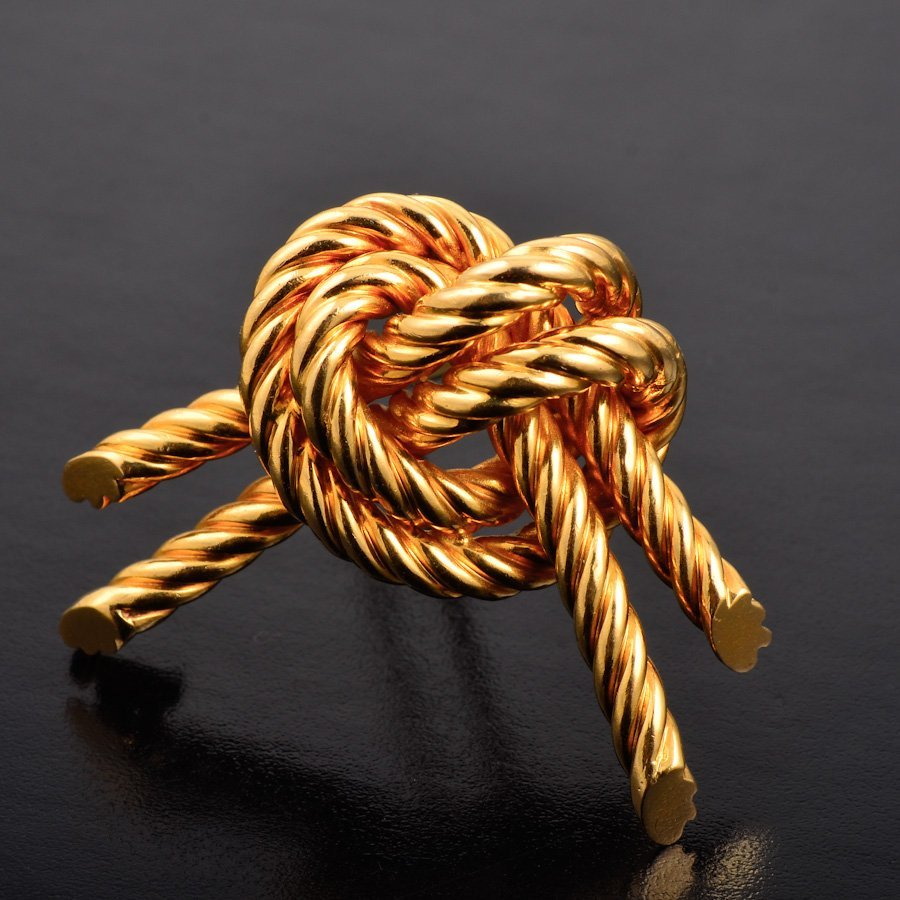 Hermes gold pin