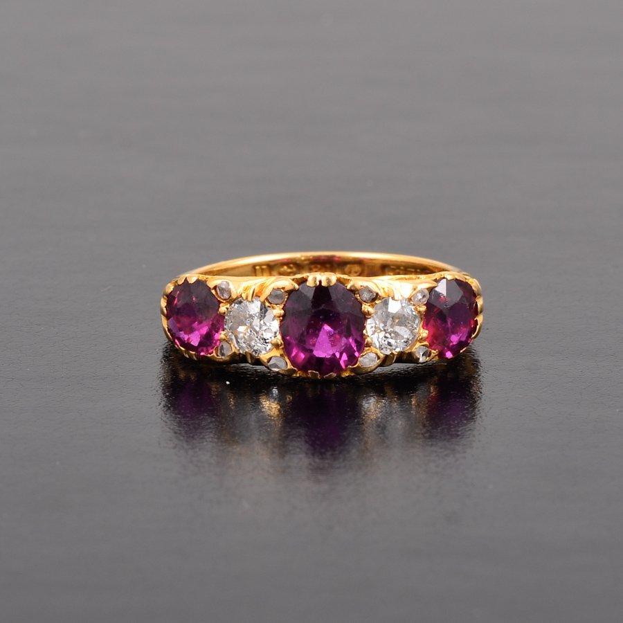 Antique ruby diamond ring