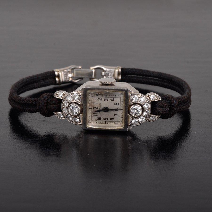 Cartier Art Deco diamond watch
