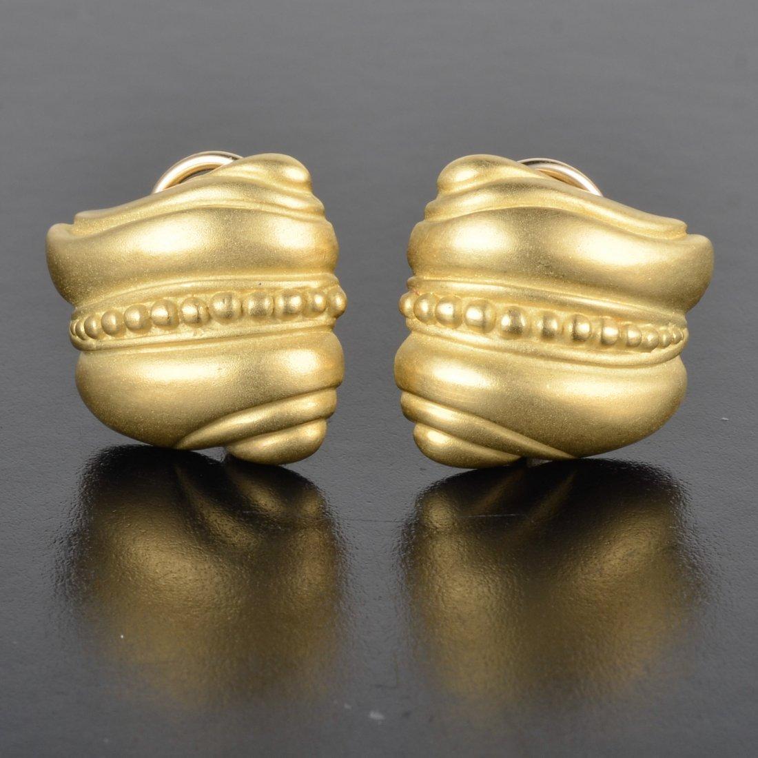 Kieselstein-cord gold earrings