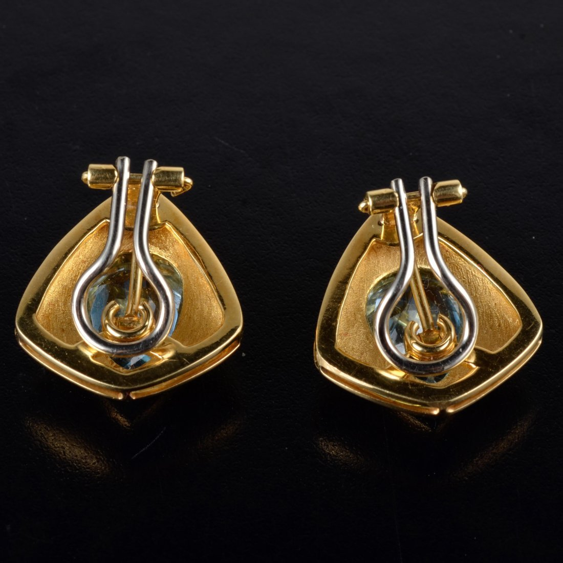 H. Stern blue topaz gold earrings - 2