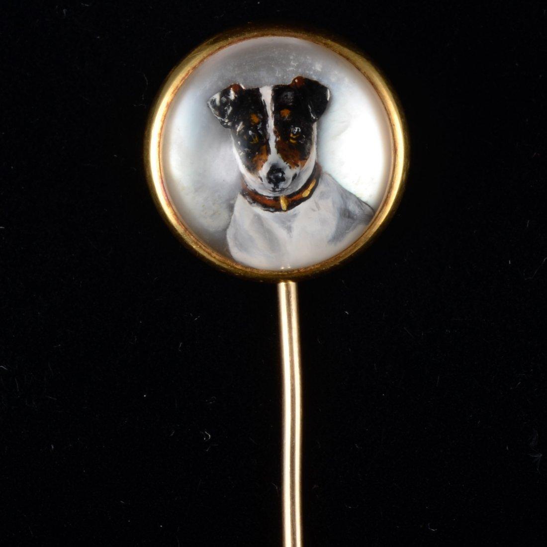 Antique Tiffany reverse crystal stick pin
