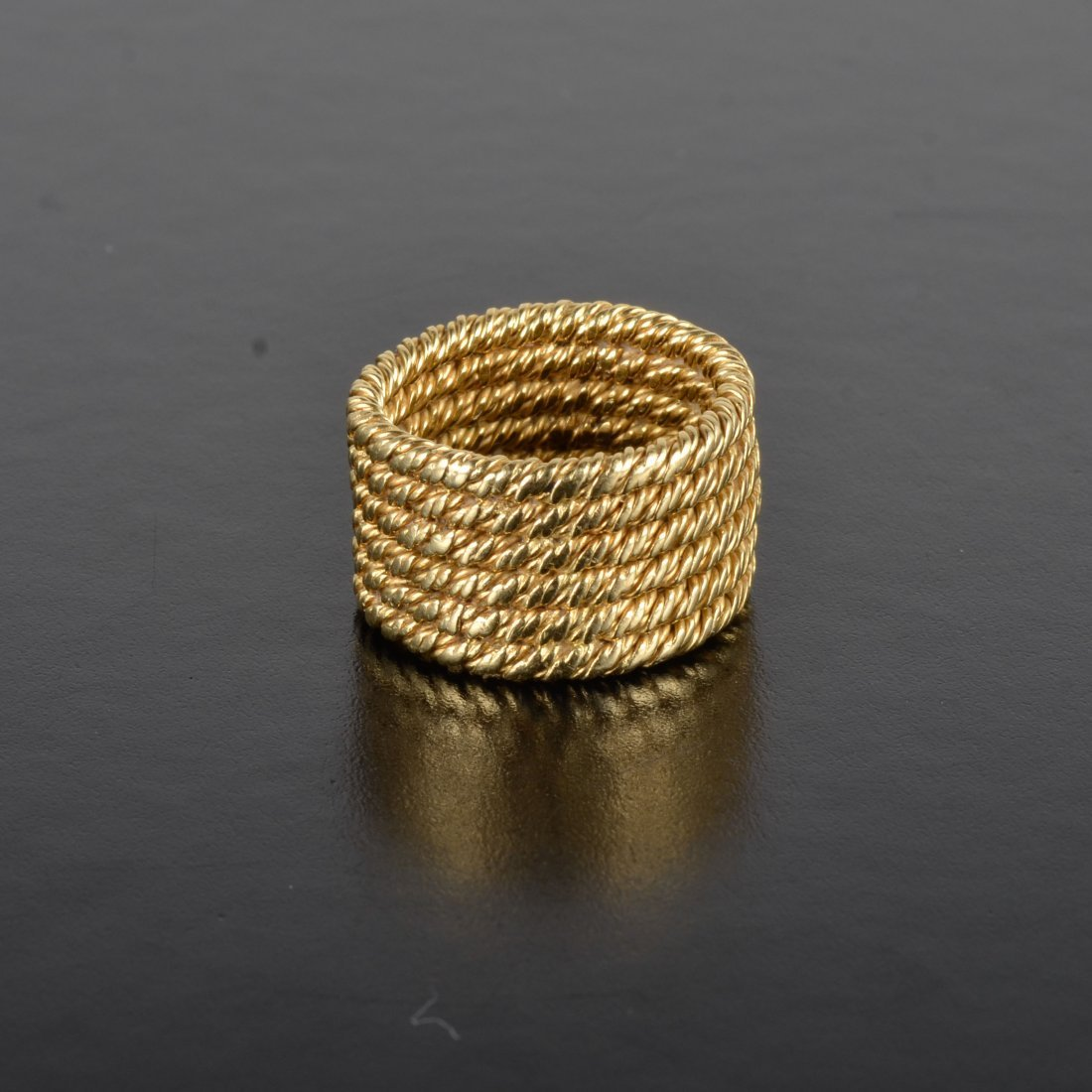 Tiffany gold rope style ring