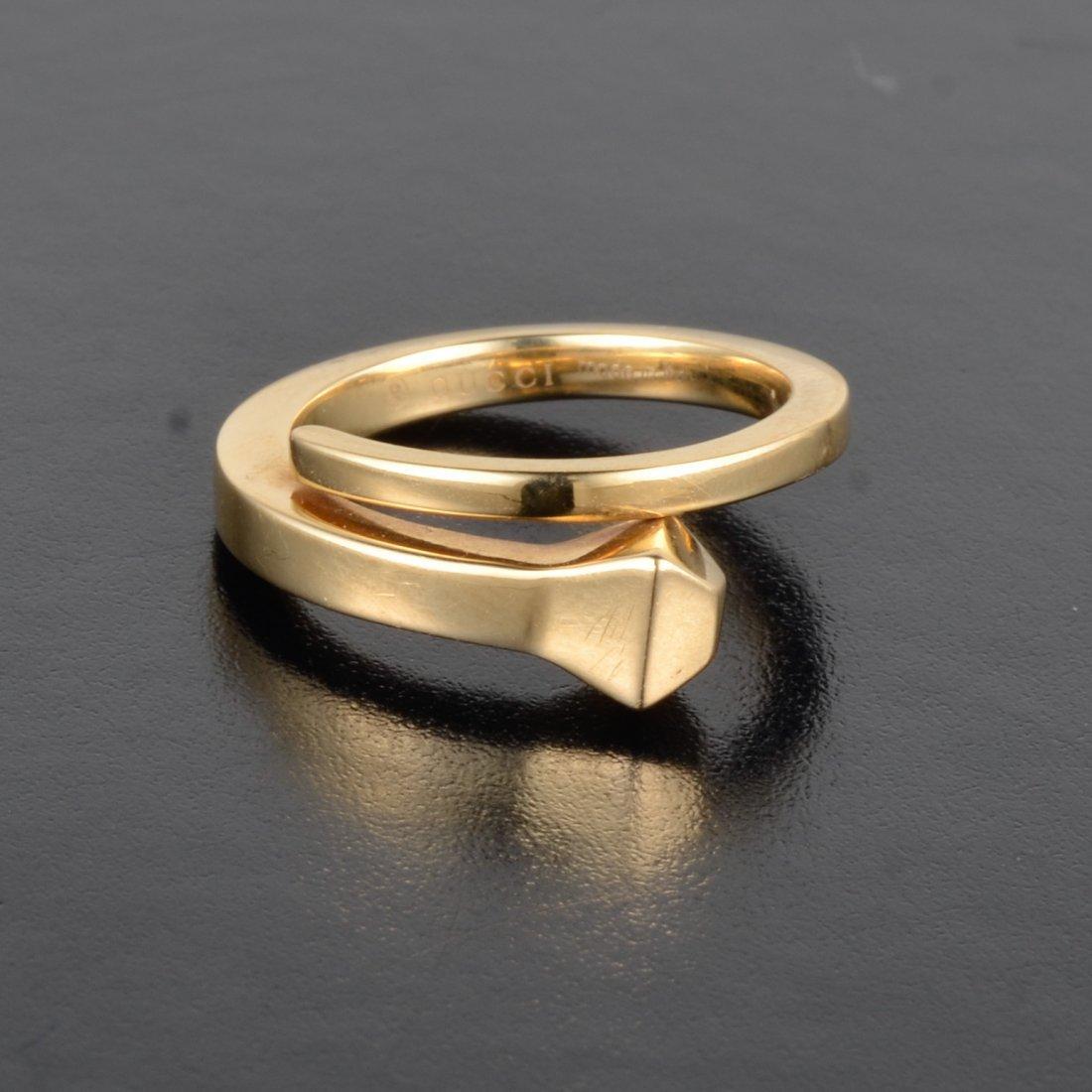 Gucci gold nail style ring