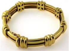 Tiffany bar link gold bracelet with original box