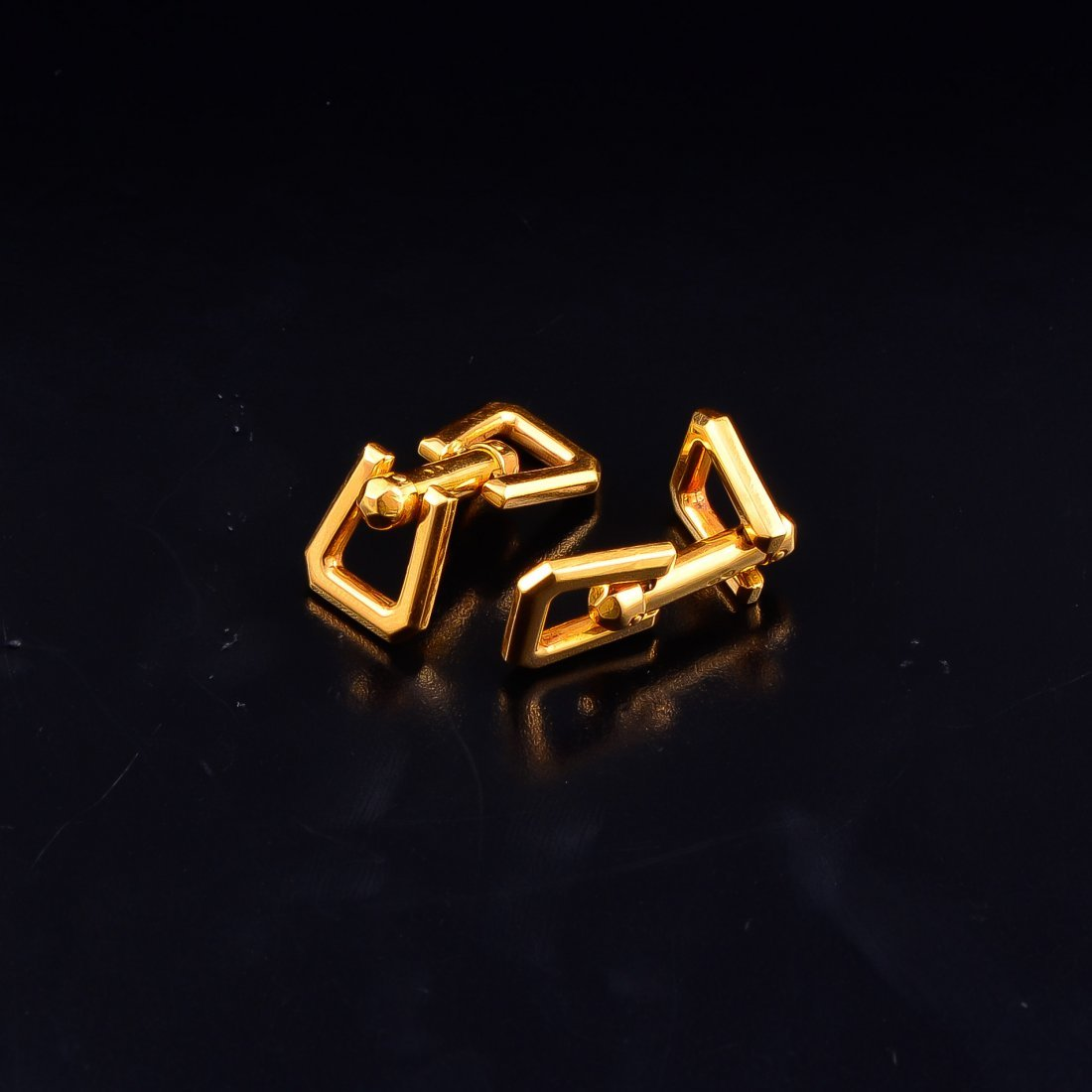 French gold cufflinks by Mecan - 2