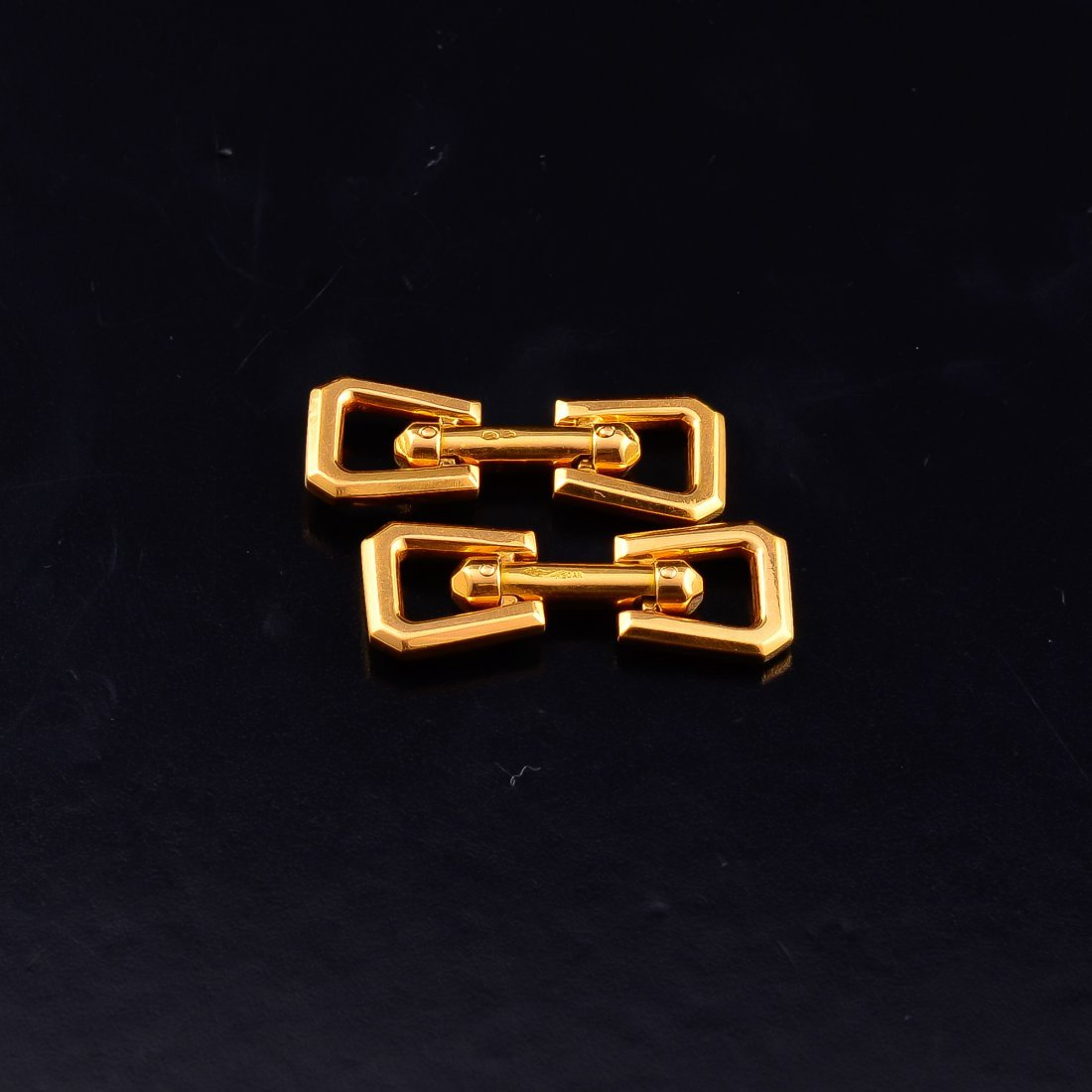 French gold cufflinks by Mecan - 4