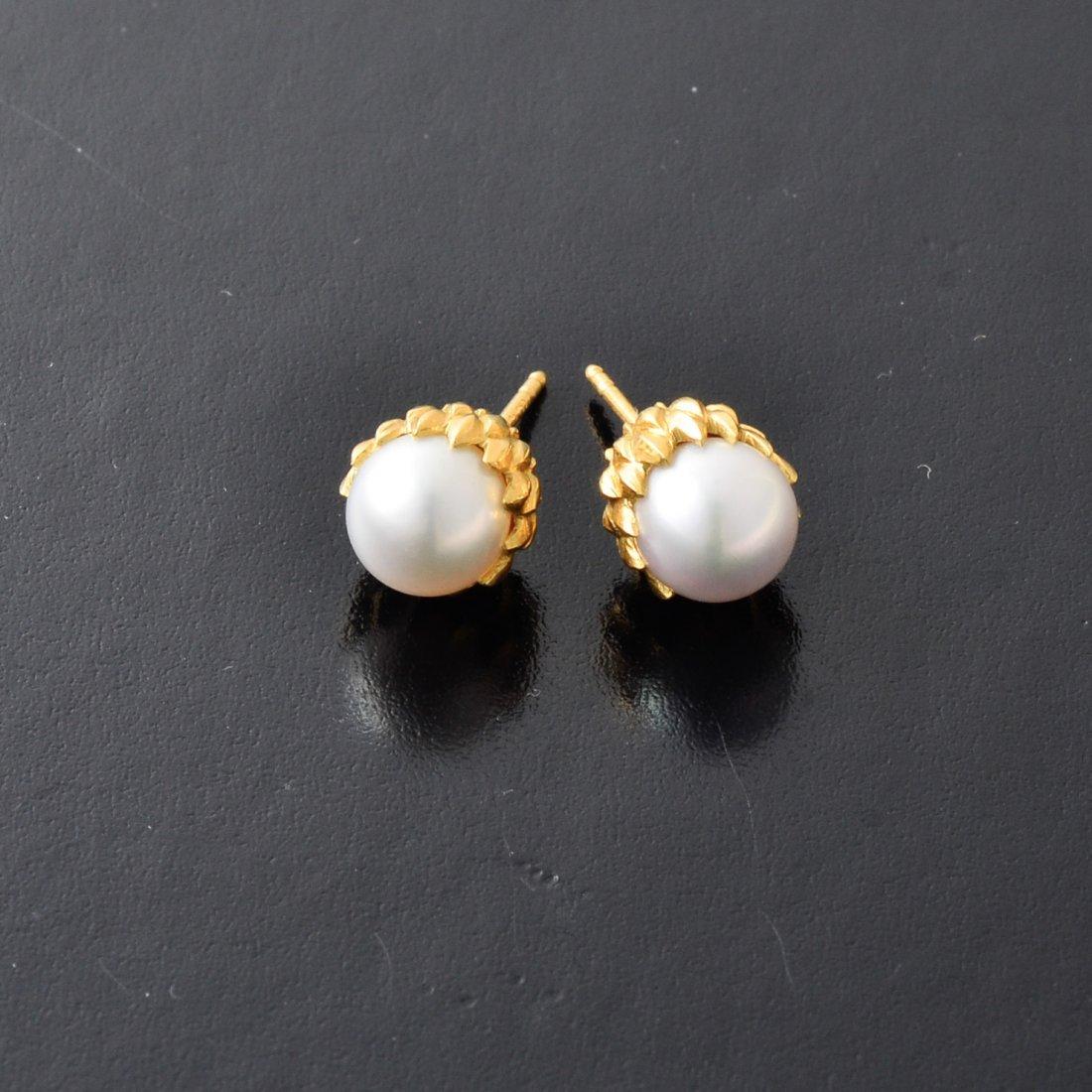 Tiffany Schlumber Pearl Earrings