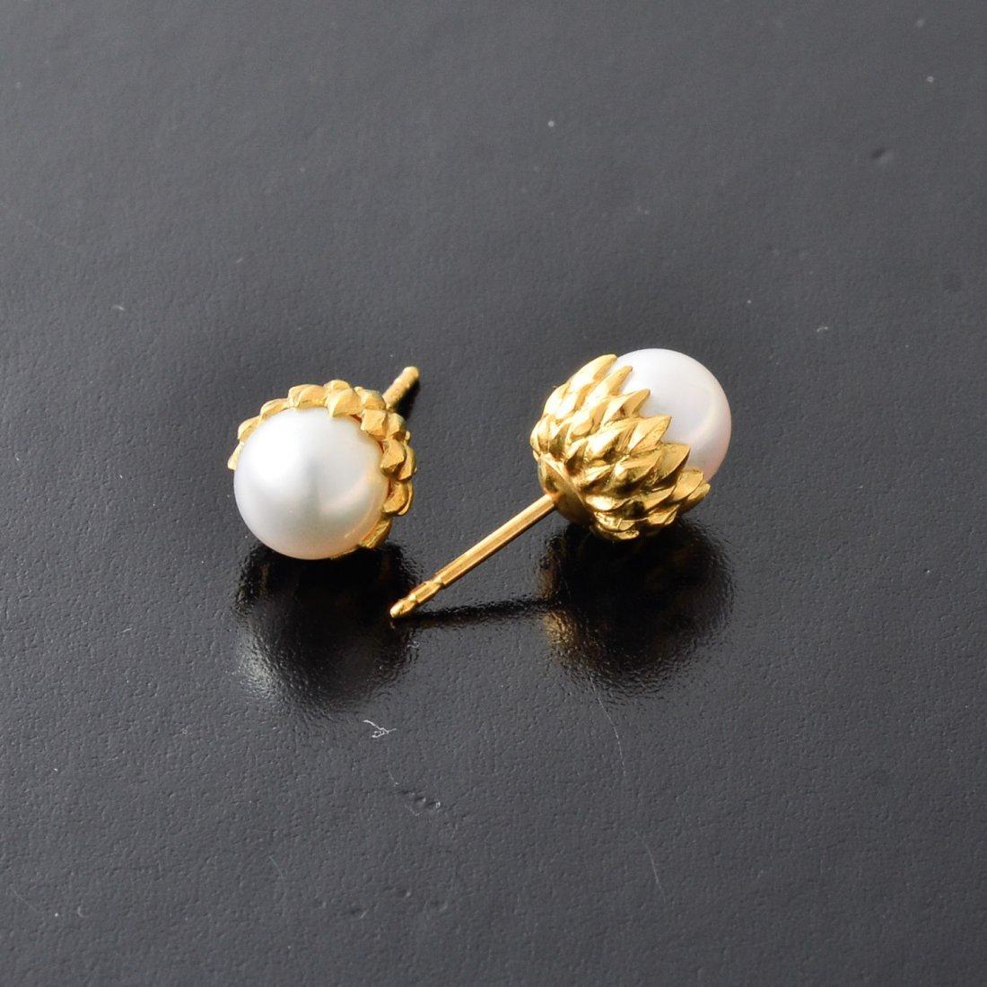 Tiffany Schlumber Pearl Earrings - 3