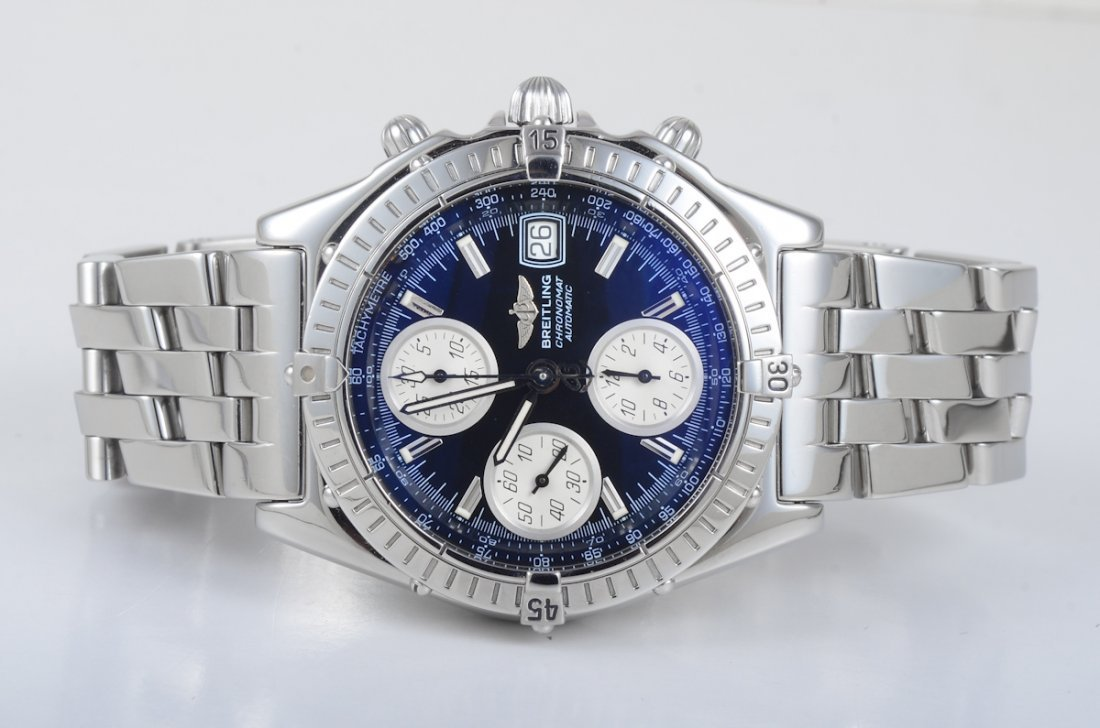 Breitling Man's Stainless Steel Chronograph Watch