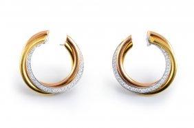 Cartier Trinity Diamond Earrings