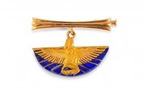Egyptian Revival Gold Pin