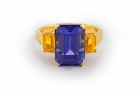 Tiffany Tanzanite Citrine Ring