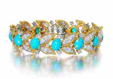 Van Cleef & Arpels Turquoise Diamond Bracelet