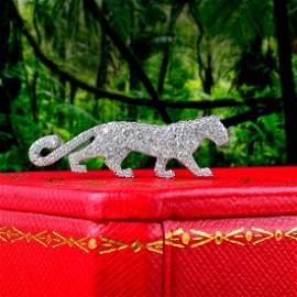 A Rare Diamond Panther Pin, by Cartier