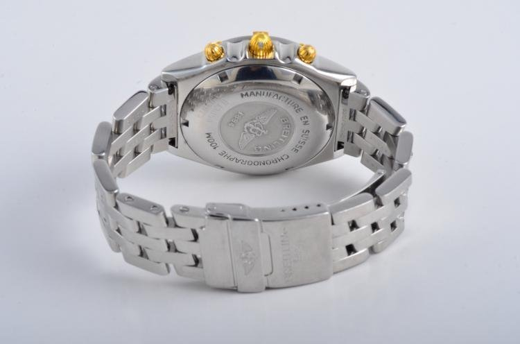 Breitling Stainless Steel and Gold Chronograph Watch - 2