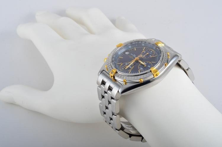 Breitling Stainless Steel and Gold Chronograph Watch - 3