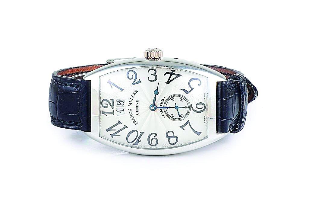A Platinum Big Date Men's Watch, by Franck Muller