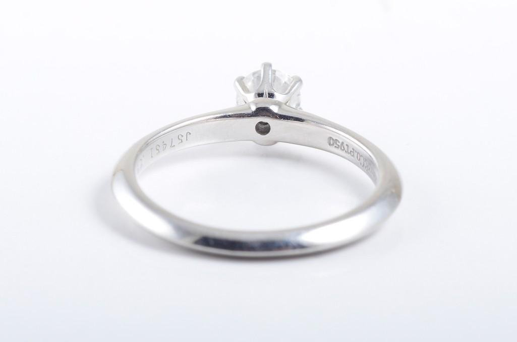 A Platinum Diamond Engagement Ring, by Tiffany & Co. - 2