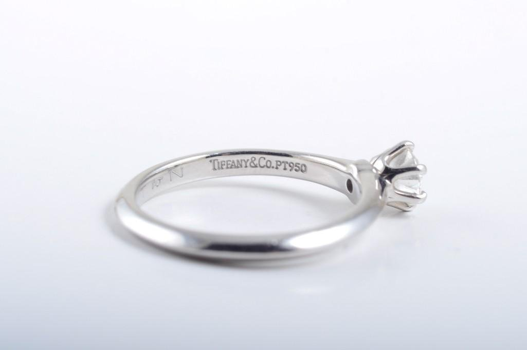 A Platinum Diamond Engagement Ring, by Tiffany & Co. - 4