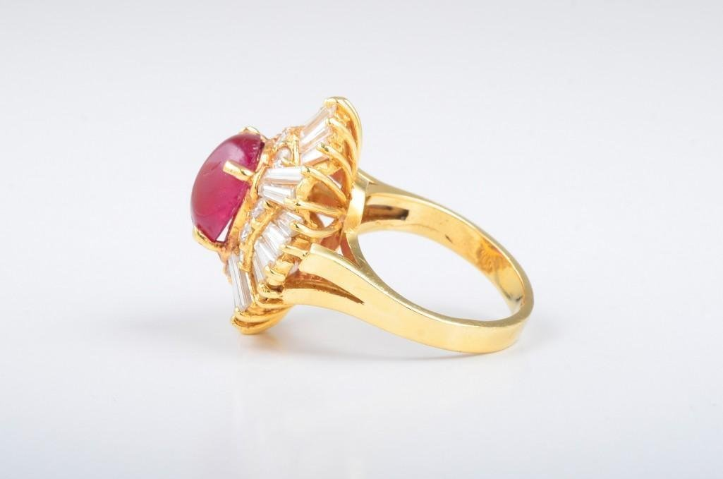 A Ruby and Diamond Gold Cocktail Ring - 3
